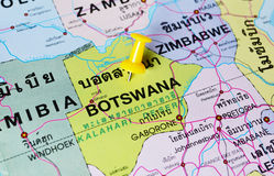 Botswana map Royalty Free Illustration
