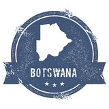 Botswana mark. Travel rubber stamp with the name and map of Botswana, vector illustration. Can be used as insignia, logotype, label, sticker or badge of the Royalty Free Stock Images