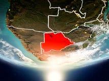 Botswana met zon op aarde Royalty-vrije Stock Foto's