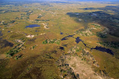 Botswana. The nature of Botswana from above Royalty Free Stock Photography