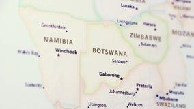 Botswana op een Kaart stock footage