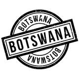 Botswana rubber stamp Royalty Free Stock Photography