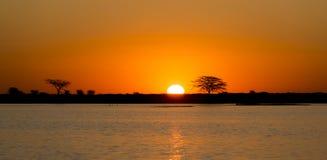 Botswana Sunset Royalty Free Stock Image