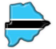 Botswana-Tastenmarkierungsfahnen-Kartenform Lizenzfreies Stockfoto