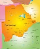 Botswana. Vector color map of Botswana Royalty Free Stock Photos