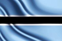 Botswansk realistisk flaggaillustration royaltyfri illustrationer