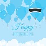 Botswanskt kort för självständighetsdagenlägenhethälsning Vektor Illustrationer