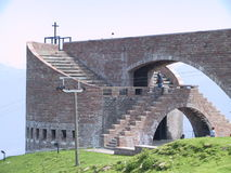 Botta Kirche auf Monte Tamaro TI die Schweiz Lizenzfreies Stockbild