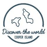Bottaio Island Map Outline L'annata scopre Fotografia Stock Libera da Diritti