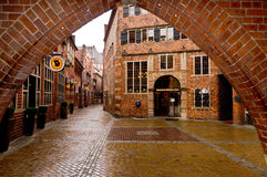 Bottcherstrasse. View from an arch Royalty Free Stock Photos