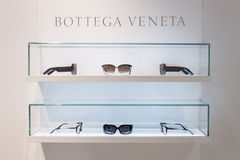 Bottega Veneta glasses on display at Mido 2014 in Milan, Italy Royalty Free Stock Photos
