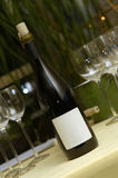 bottel EN κρασί glas Στοκ φωτογραφία με δικαίωμα ελεύθερης χρήσης