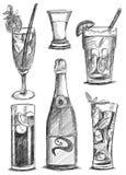 Bottel och exponeringsglasuppsättning Arkivbild