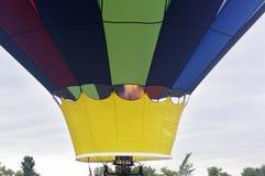 Botten av arkiveringen för ballong för varm luft med luft Royaltyfri Fotografi