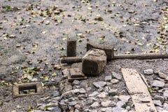 Botten av det tömda dammet Royaltyfri Fotografi