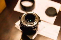 Botten av SLR kameran Lens Arkivfoton