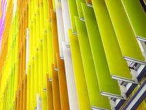 botten för lutning för plast- ark för akryl inre 45 grad och apelsin Royaltyfri Fotografi