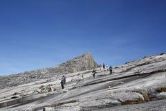 Bottenläges maximala toppmöte (4.095 2m) Mount Kinabalu Sabah, Borneo Fotografering för Bildbyråer