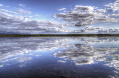 Bottentnen Lake with clouds Royalty Free Stock Images