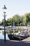 Botter in harbour of Appingedam, Holland Stock Image