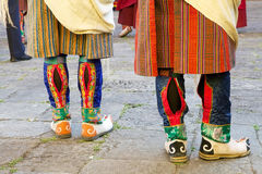 Bottes bhoutanaises, Trongsa, Bhutan photo stock