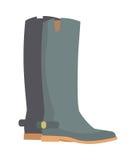 Bottes d'hiver d'isolement sur le blanc Grey Rubber Shoes Photo stock
