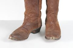 Bottes de cowboy de Brown photos stock