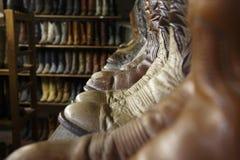 Bottes de cowboy de vintage à Houston le Texas Photographie stock libre de droits