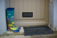 Bottes de pluie colorées Photographie stock libre de droits