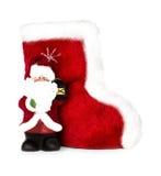 Bottes de Santa Claus et de Noël d'isolement Images stock