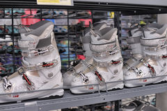 Bottes de ski Photos stock