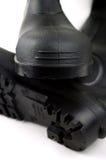 Bottes en caoutchouc noires Photographie stock