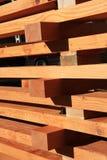 Bottes récupérées de bois de construction de sapin Photographie stock libre de droits
