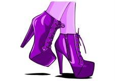 Bottes sexy de femme avec l'illustrateur de vecteur de jambes illustration libre de droits