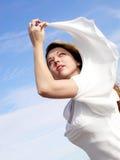 Botticelli Mädchen 3 Lizenzfreies Stockfoto