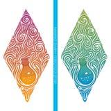 Bottiglia Alchemical astratta multicolore Immagine Stock Libera da Diritti