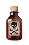 Bottiglia antiquata della droga, isolata. Immagini Stock