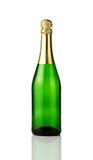 Bottiglia in bianco del champagne Immagini Stock
