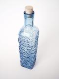 Bottiglia blu 3 immagini stock