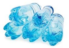 Bottiglia blu isolata Fotografia Stock