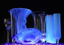 Bottiglia blu lunedì fotografia stock libera da diritti