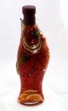 Bottiglia con frutta marinata Fotografia Stock