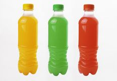 Bottiglia con i liquidi dei colori differenti immagini stock libere da diritti