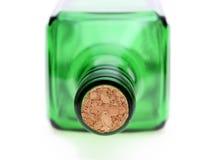 Bottiglia con il tappo del sughero Immagini Stock