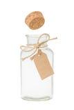 Bottiglia con l'etichetta Fotografie Stock