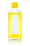 Bottiglia con l'olio di pesce Fotografia Stock