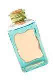 Bottiglia con liquido blu Fotografie Stock Libere da Diritti