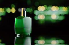 Bottiglia con profumo Fotografia Stock