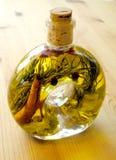Bottiglia con seasoner Fotografie Stock