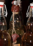 Bottiglia con una guarnizione della cera Immagine Stock